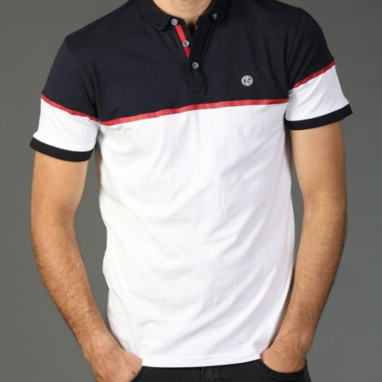 Diesel Mens Sports Finlay Polo Navy White